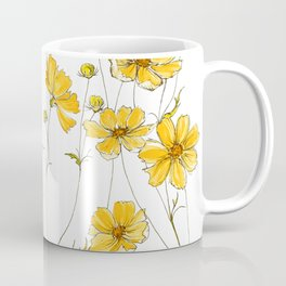 Yellow Cosmos Flowers Coffee Mug