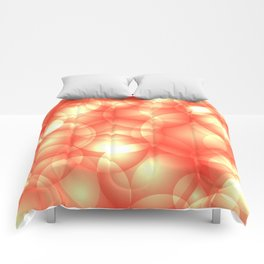 Gentle intersecting orange translucent circles in pastel shades with glow. Comforters