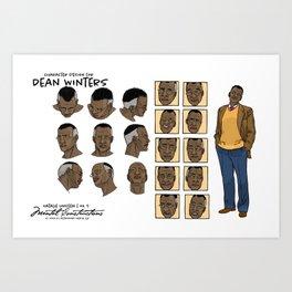 Dean Winters' character design Art Print