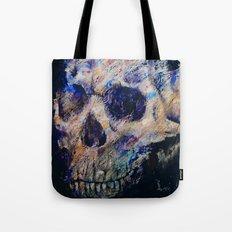 Ultraviolet Skull Tote Bag