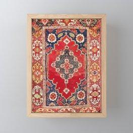 Transylvanian Manisa West Anatolian Niche Carpet Print Framed Mini Art Print