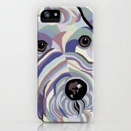 Wire Hair Terrier Denim Colors iPhone Case