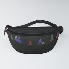 Illuminated Christmas Trees at Night Fanny Pack