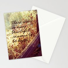Beautiful Reasons To Be Happy Stationery Cards