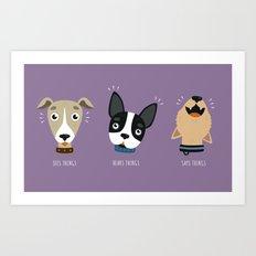 Three wise dogs Art Print