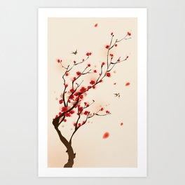 Oriental plum blossom in spring 005 Art Print