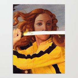 Botticelli's Venus & Beatrix Kiddo in Kill Bill Poster
