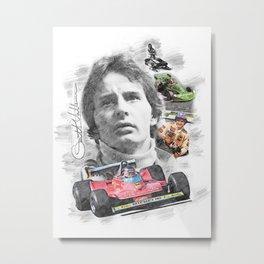 Gilles Villeneuve Metal Print