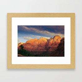Zion Sunrise Framed Art Print