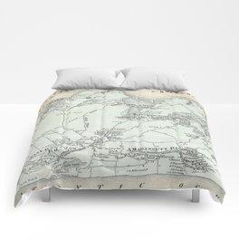 Vintage Map of East Hampton New York (1873) Comforters