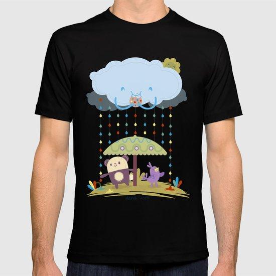 color raindrops keep falling on my head T-shirt