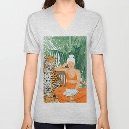 Jungle Vacay #painting #illustration Unisex V-Neck