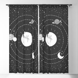 The Space Cat Blackout Curtain
