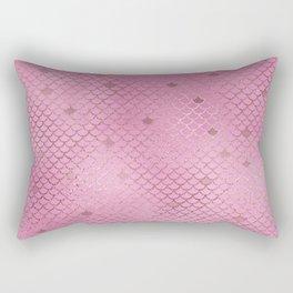 Fuchsia Mermaid Scales Rectangular Pillow