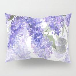 Purple Wisteria Flowers Pillow Sham