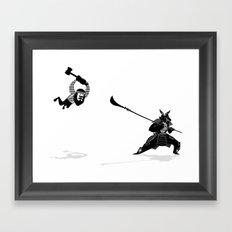 PDX vs TYO Framed Art Print