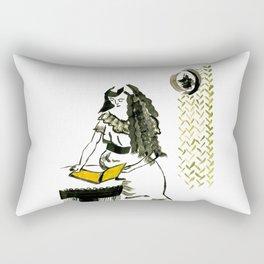 Reading girl Rectangular Pillow