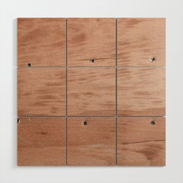 Plywood shipboard with nails and screws Wood Wall Art