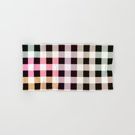 Patchwork Striped Checkerboard Gradient Hand & Bath Towel