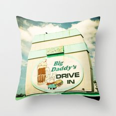Big Daddy's drive in Throw Pillow