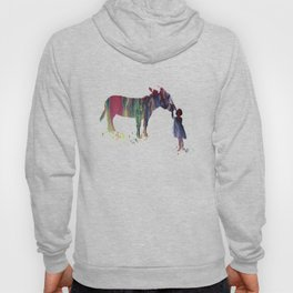 donkey and child art Hoody