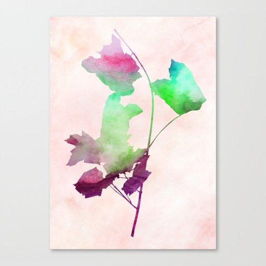 maple 2 watercolor by Jacqueline Madonado & Garima Dhawan Canvas Print