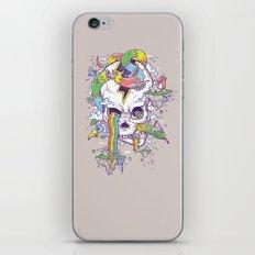 Flying Rainbow skull Island iPhone & iPod Skin