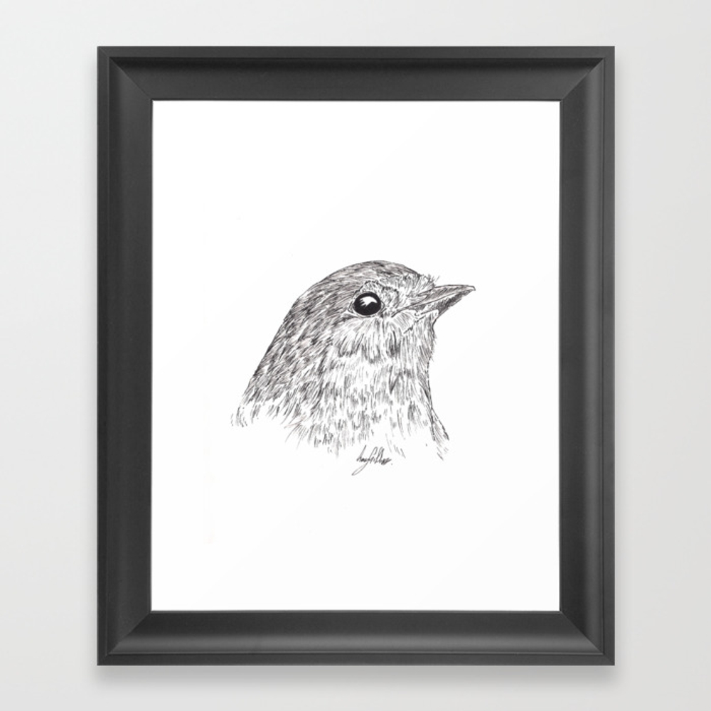 Robin Redbreast Framed Art Print by Gillifish (FRM8878248) photo