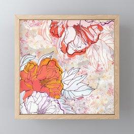 Abstract Floral Illustration Framed Mini Art Print
