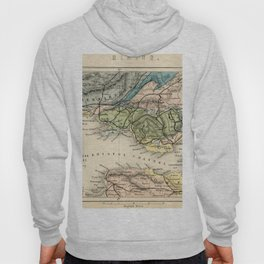 Vintage Map of the Coal Fields of South Wales - Forest Of Dean - Bristol and Somersetshire Hoody