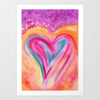 Heart Afire Art Print