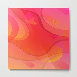 Colorful Pink Abstract Art Design Metal Print