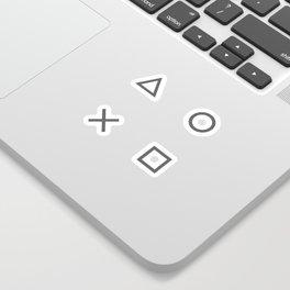 Grey Gamer Sticker
