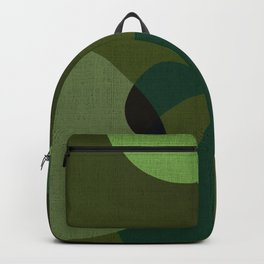 """Retro Green Super Dots"" Backpack"