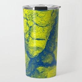 Abstract - in yellow & green Travel Mug