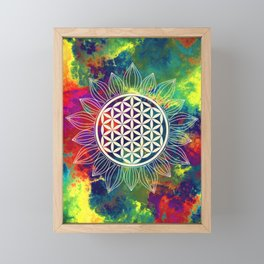 Flower Of Life (Lively World) Framed Mini Art Print