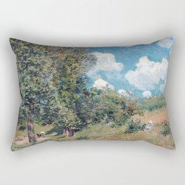 Alfred Sisley The Road from Versailles to Saint-Germain Rectangular Pillow
