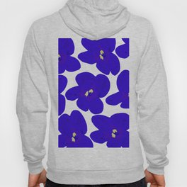 Blue Retro Flowers #decor #society6 #buyart Hoody