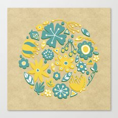 Little Flower Circle Canvas Print
