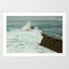 Sennen cove breakwater Art Print