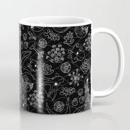 Cephalopods - Black and White Coffee Mug