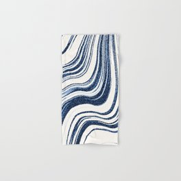 Textured Marble - Indigo Blue Hand & Bath Towel