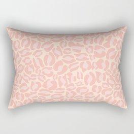 Leopard Print | Pastel Pink Girly Bedroom Cute | Cheetah texture pattern Rectangular Pillow
