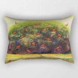 Tree Of Scarlet Ibis Rectangular Pillow