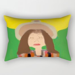 Praying with the Sun Rectangular Pillow