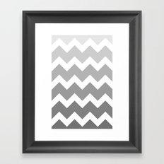Chevron - Multi Grey Framed Art Print