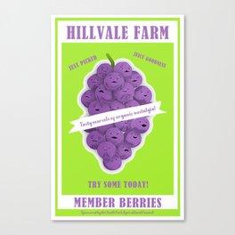Hillvale Farms Member Berries Canvas Print