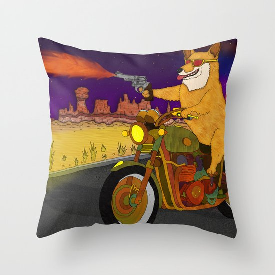Corgi Killa Throw Pillow