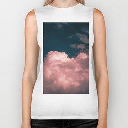 Pink night clouds Biker Tank