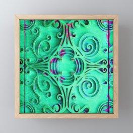 Ornate Flourish Art Deco Detail Framed Mini Art Print